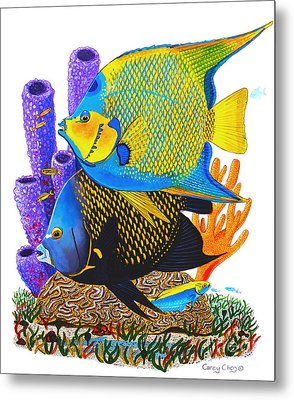 Angel Fish Metal Print by Carey Chen
