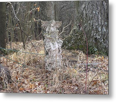 Angel In The Woods Metal Print by Marisa Horn
