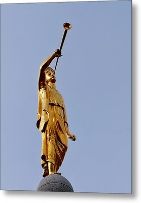 Angel Moroni Metal Print by Rona Black