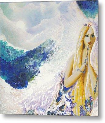 Angel Of Peace Metal Print by Valerie Graniou-Cook