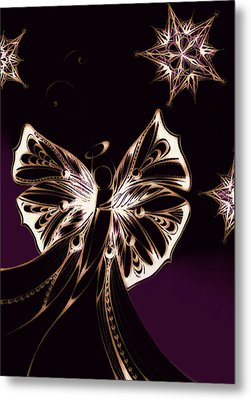 Angel-purple Metal Print by Andrea Carroll