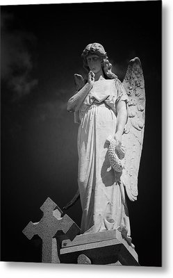 Angel St Louis Cemetery No 3 New Orleans Metal Print by Christine Till