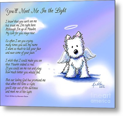 Angel Westie With Poem Metal Print by Kim Niles