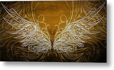 Angel Wings Gold Metal Print by Angelina Vick