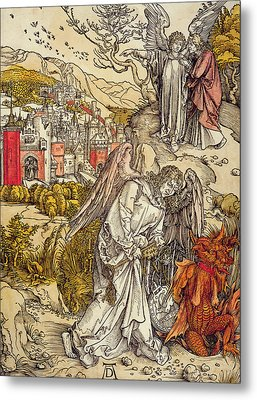 Angel With The Key Of The Abyss Metal Print by Albrecht Durer or Duerer