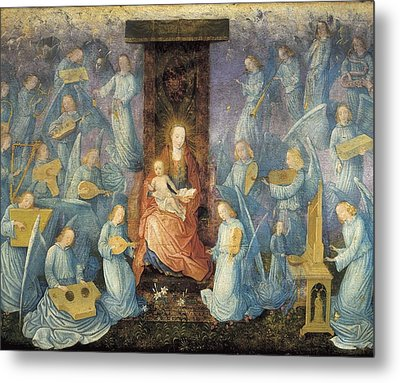 Angelical Concert. 15th-16th C. Flemish Metal Print by Everett