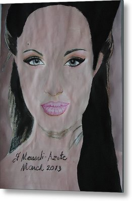 Angelina Metal Print by Fladelita Messerli-
