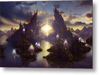 Angels Passage Metal Print by Cassiopeia Art