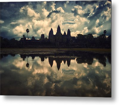 Angkor Wat Sunset Metal Print by Kim Andelkovic