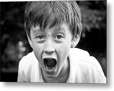 Angry Child Metal Print by Tom Gowanlock