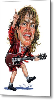 Angus Young Metal Print by Art
