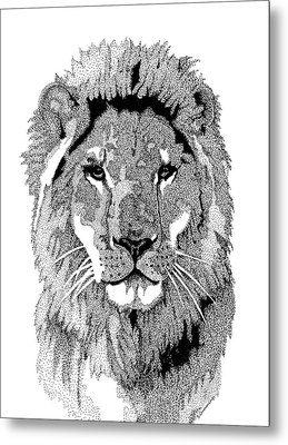 Animal Prints - Proud Lion - By Sharon Cummings Metal Print by Sharon Cummings