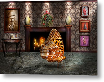 Animal - The Butterfly Metal Print by Mike Savad