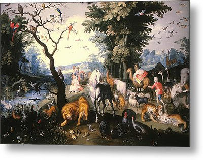 Animals Entering Noah's Ark Metal Print by Mountain Dreams