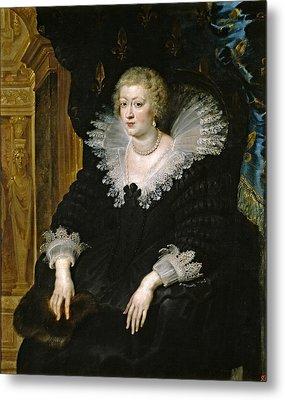 Anna Of Habsburg. Queen Of France Metal Print by Peter Paul Rubens