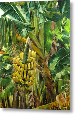 Annie's Bananas Metal Print by Stacy Vosberg