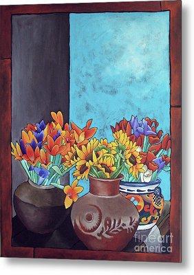 Annie's Flowers Metal Print by Yvonne Gillengerten
