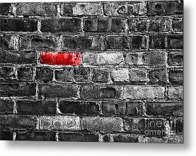 Another Brick In The Wall Metal Print by Delphimages Photo Creations