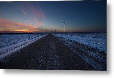 another Cold Road to Nowhere Metal Print by Aaron J Groen