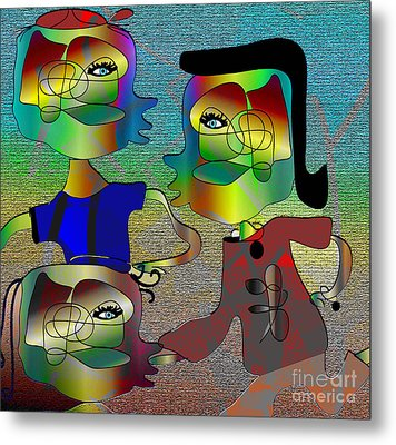 Another Picasso Inspired Cartoon Metal Print by Iris Gelbart
