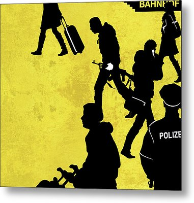 Anti-terrorism Police Metal Print by Smetek