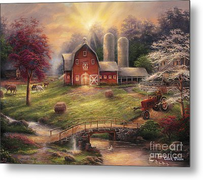 Anticipation Of The Day Ahead Metal Print by Chuck Pinson