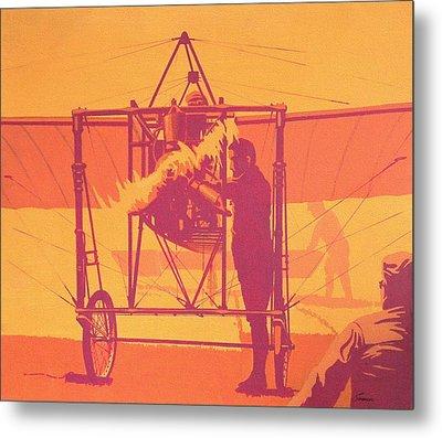 Antique Bleriot Airplane  Metal Print by John Samsen