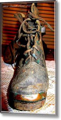 Antique Boots Metal Print by Danielle  Parent