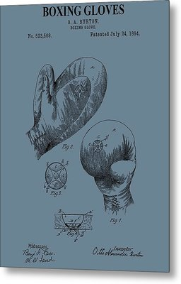 Antique Boxing Gloves Patent Metal Print by Dan Sproul