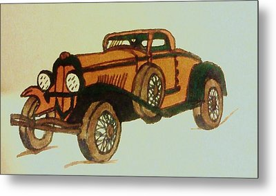 Antique Car Metal Print by Christy Saunders Church
