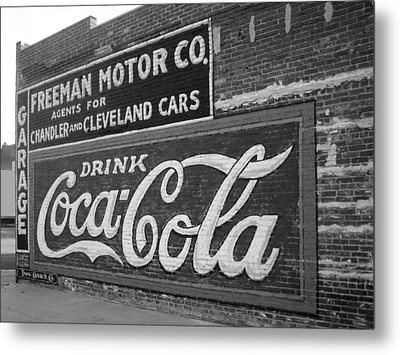 Antique Cola Sign Metal Print by Ann Powell