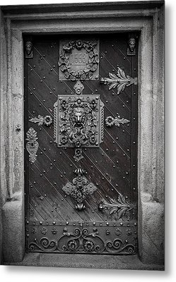 Antique Doors In Budweis Metal Print by Christine Till