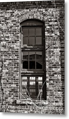 Antique Factory Window Metal Print by Olivier Le Queinec