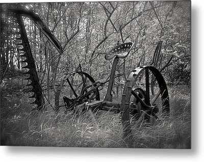 Antique Field Mower Metal Print by Mary Lee Dereske