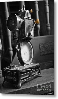 Antique Film Projector Metal Print by Al Bourassa
