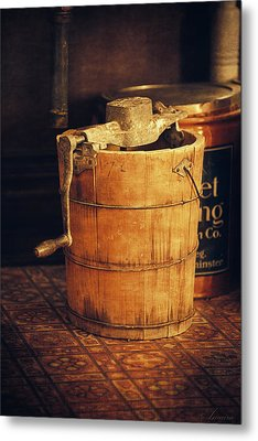 Antique Ice Cream Maker Metal Print by Maria Angelica Maira