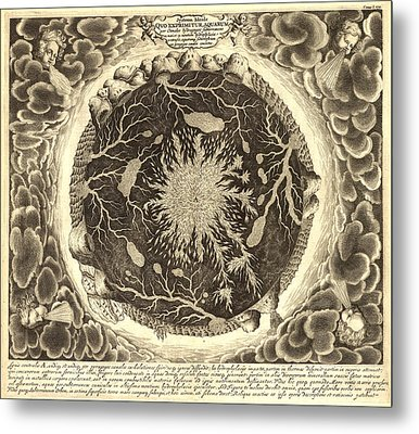 Antique Mystical Map Metal Print by Gary Grayson