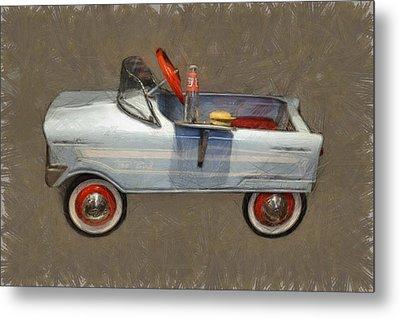 Antique Pedal Car Lv Metal Print by Michelle Calkins