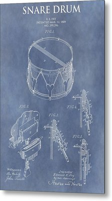 Antique Snare Drum Patent Metal Print by Dan Sproul