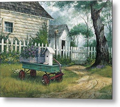 Antique Wagon Metal Print by Michael Humphries