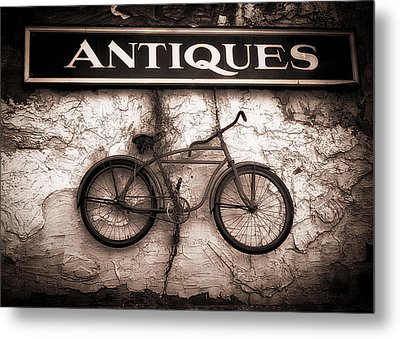 Antiques And The Old Bike Metal Print by Bob Orsillo