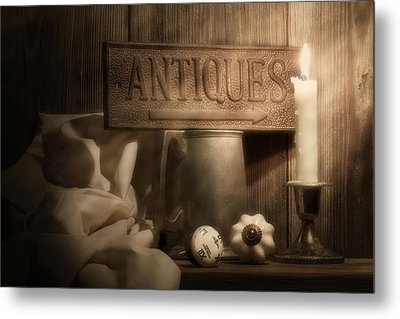 Antiques Still Life Metal Print by Tom Mc Nemar