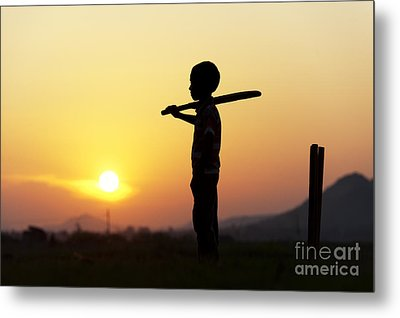 Any One For Cricket Metal Print by Tim Gainey