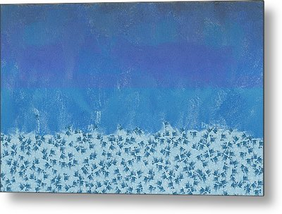 Anything But Blue Holiday Blues Metal Print by Lorri Crossno