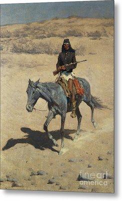 Apache Scout  Metal Print by Frederic Remington