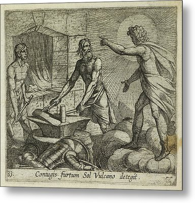 Apollo At Vulcan's Forge Metal Print by British Library