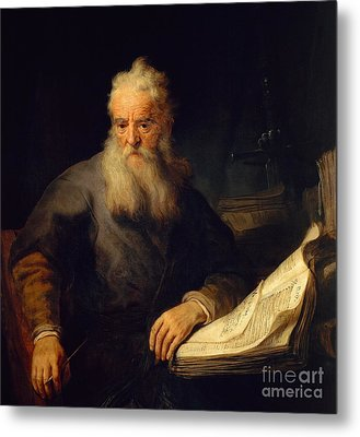 Apostle Paul Metal Print by Rembrandt