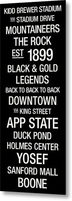 Appalachian State College Town Wall Art Metal Print by Replay Photos