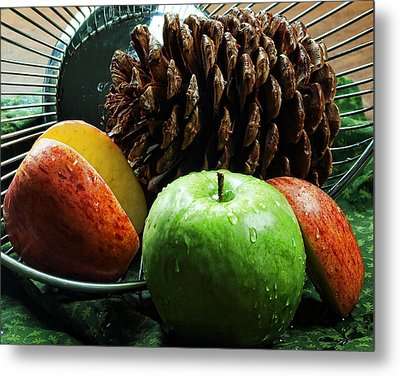 Apple Delight Metal Print by Camille Lopez