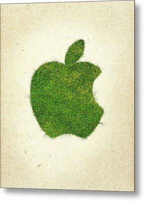 Apple Grass Logo Metal Print by Aged Pixel